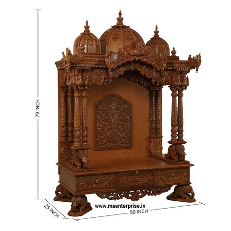 wooden home temple mandir home pooja mandir teak wood
