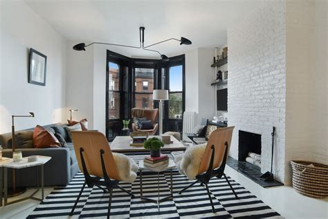 livingroom brooklyn for 995k a sleek park slope two bedroom with design cred