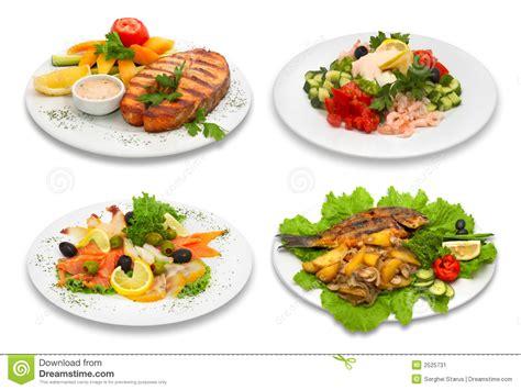 fish cuisine 4 fish dishes stock image image 2525731