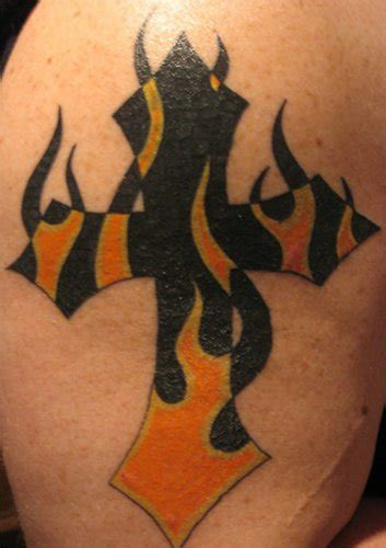 burning cross tattoo firefighter tattoos page 9
