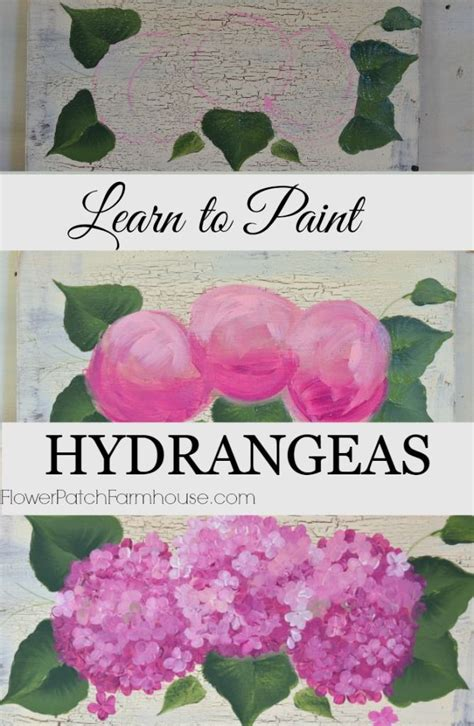 watercolor hydrangea tutorial how to paint hydrangeas in acrylics one stroke at a time