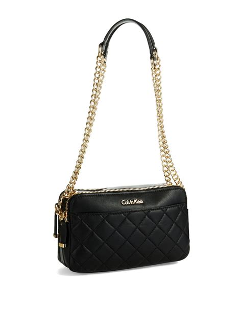 Quilted Crossbody Bags by Calvin Klein Quilted Crossbody Bag In Black Lyst