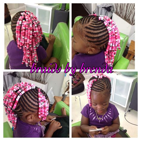 little girl hairstyles braided to the side beaded cornrows mohawk with side bangs little girl