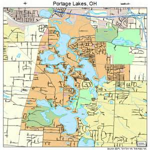 Ohio Lakes Map by Portage Lakes Ohio Street Map 3964136
