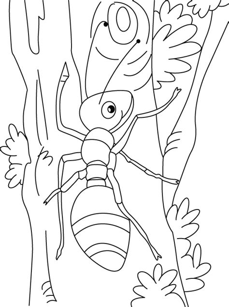 Printable Ant Coloring Pages Coloring Me Ants Coloring Page