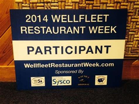 cape cod restaurant week wellfleet restaurant week cape cod cape cod