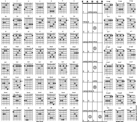 note diagram dan becker s guitars and charts