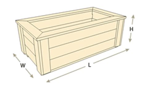 Planter Dimensions by Rectangle Planter Boxes Naturalyards