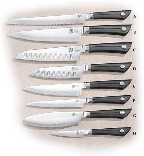 list of kitchen knives shun sora kitchen knives agrussell com