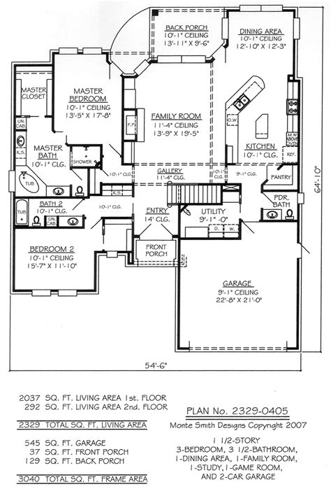 3 bedroom 2 story house plans rayburn house office building floor plan