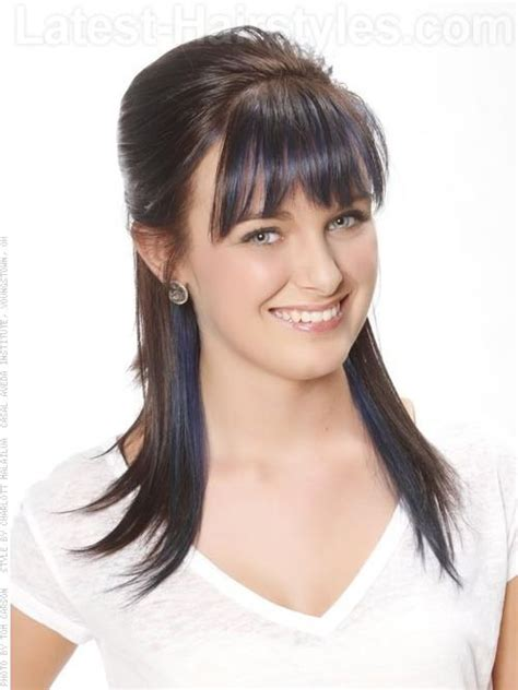 Hairstyles With Partial Bangs | edgy bangs partial updo hair pinterest