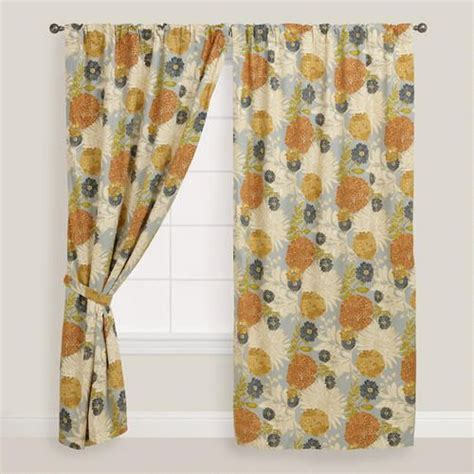cost plus curtains floral mackenzie cotton tab top curtain at cost plus world