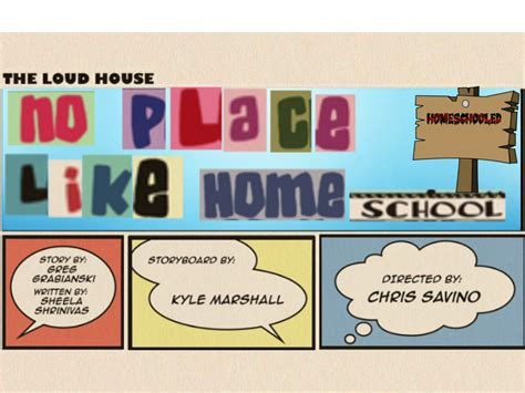 The Loud House Title Card Template by User Semicode1fazt94 Any Fanmade Quot No Place Like
