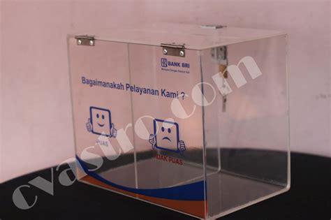 Acrylic Kotak Saran pengadaan kotak saran dan tempat kartu saran bank bri