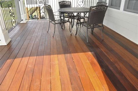 ipe deck staining cleaning sealer maintenance