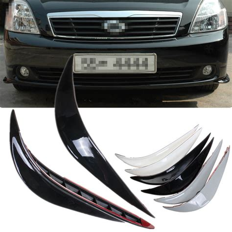2pcs Car Front Rear Edge Bumper Corner Guard Scratch Protection Decora 2pcs black universal car auto vehicle front bumper corner protector lip guard alex nld