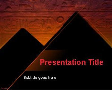 free hieroglyphic powerpoint template