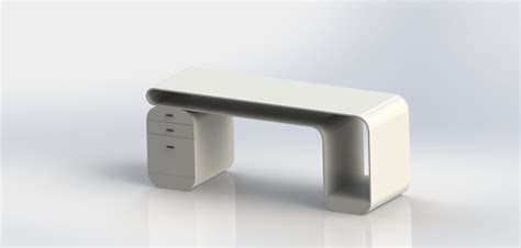 futuristic computer desk future desk free 3d model sldprt sldasm slddrw cgtrader