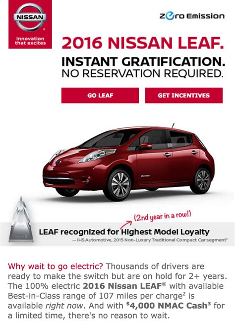nissan leaf ads nissan s tesla model 3 response gets more laughs than