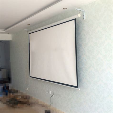 how to install projector screen from ceiling
