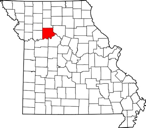 Carroll County Search File Map Of Missouri Highlighting Carroll County Svg