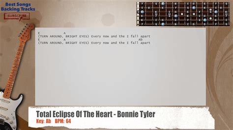 tattooed heart backing track total eclipse of the heart bonnie tyler guitar backing