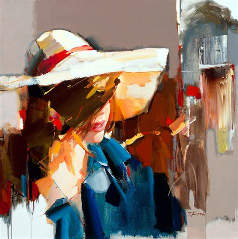 The Figurative Paintings of Josef Kote – boy with a hat