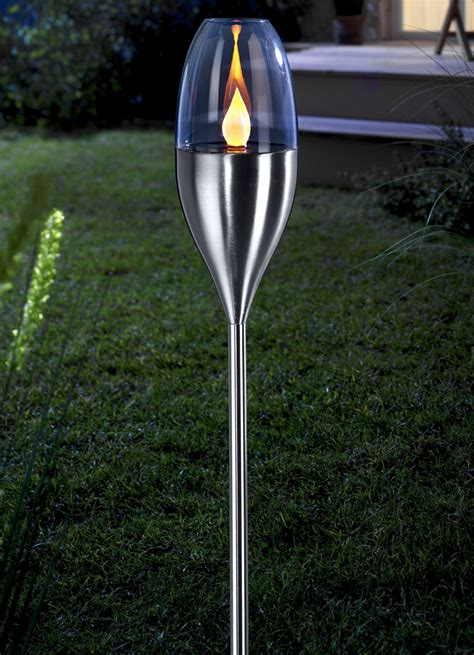 led solar fackel leuchtende dekoration bader