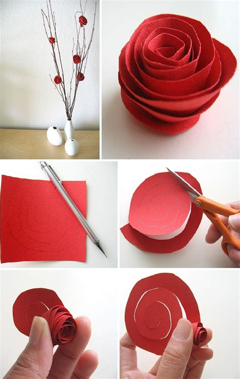 How To Make Roses Out Of Paper Easy - diy paper flower centerpiece home design garden