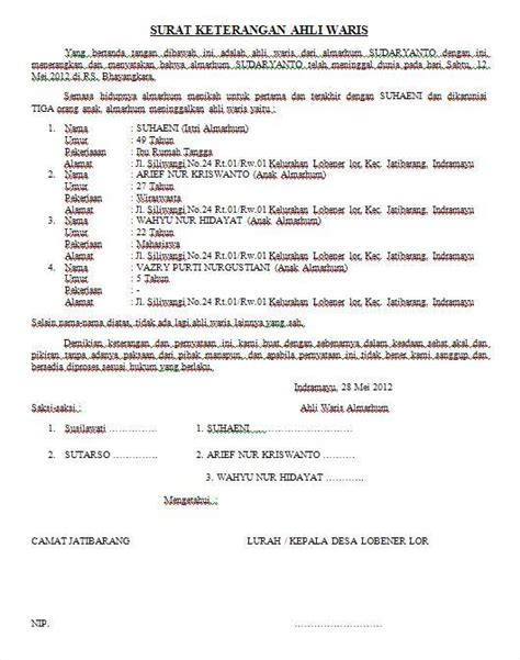 contoh surat perjanjian contoh surat newhairstylesformen2014