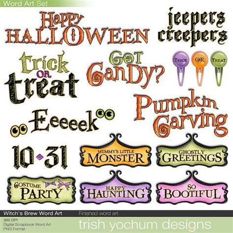 halloween themed words halloween digital word art set works great for costume