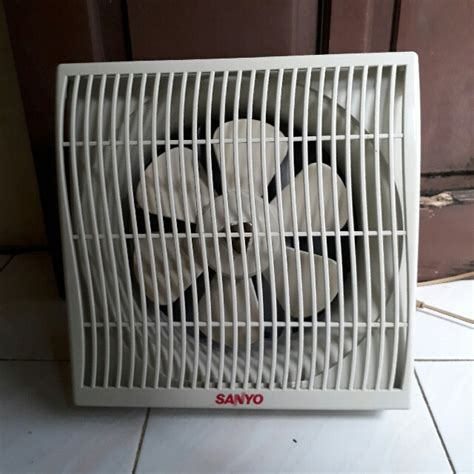 Kipas Angin Jepit Bayi kipas angin exhoust dinding in out 10 in merk sanyo masih gress jarang pakai elektronik tv