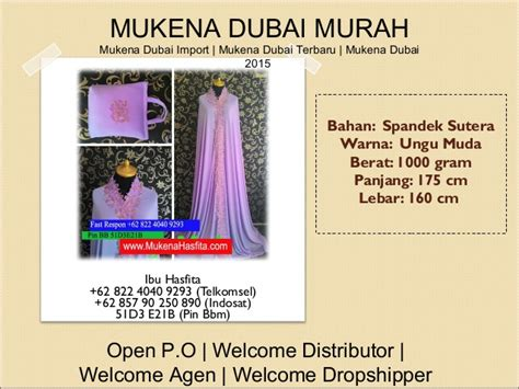 Mukena Terbaru 2016 Dubai Hasfita Ungu Muda 62 822 4040 9293 telkomsel jual mukena ibu dan