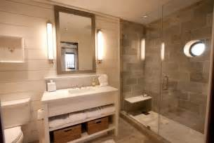 Bathroom Remodel Tile Ideas Gray Cream Tan Color Scheme Use Same Tile On Shower