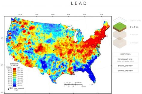 maps us states kml interactive map of the chemistry and mineralogy of soils