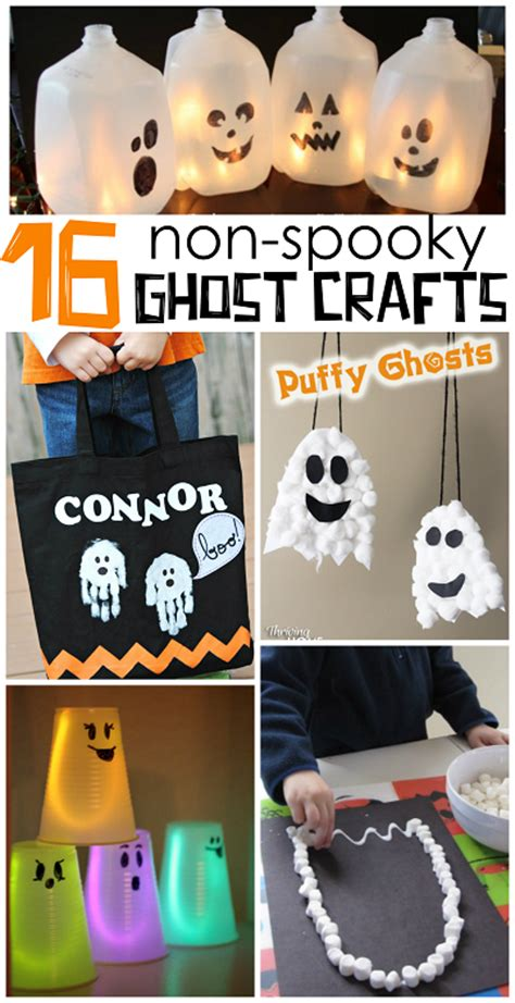 spooky crafts non spooky ghost crafts for crafty morning