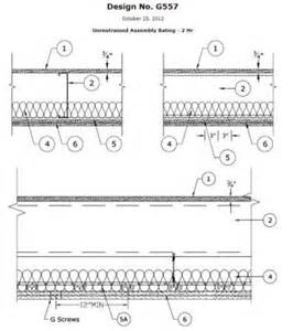 2 hour ceiling assembly ul g557 is a 2 hour floor assembly using usg s