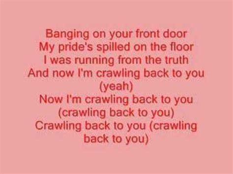 Back At Your Door Lyrics by Backstreet Boys Crawling Back To You Lyrics