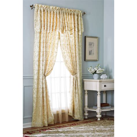 Priscilla Curtains With Attached Valance Coffee Tables Wide Priscilla Curtains Semi Sheer Curtains With Attached Valance 5