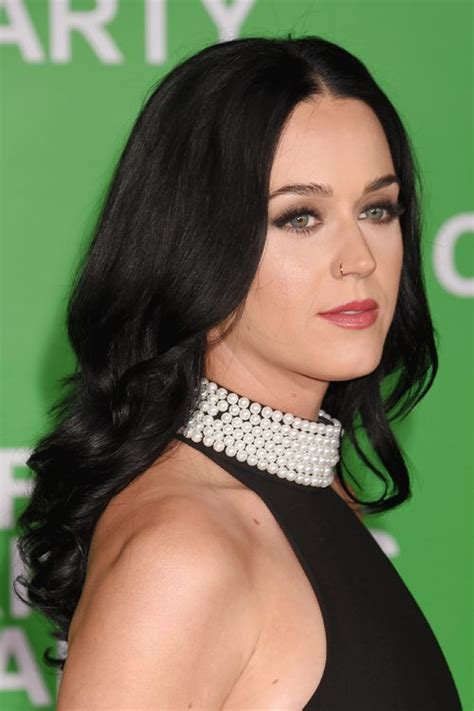 Katy Perry Hairstyles by Katy Perry Wavy Black Barrel Curls Hairstyle Style