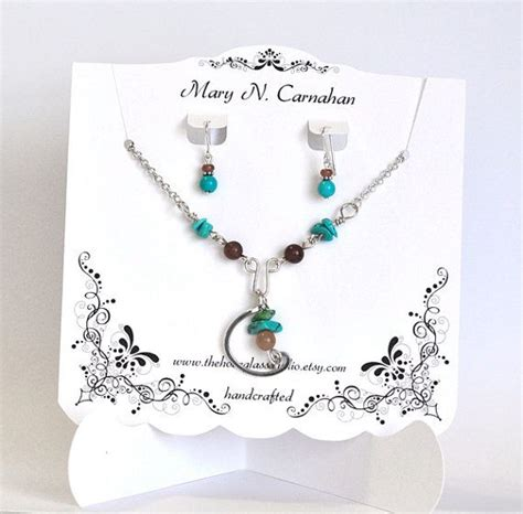how to make custom earring cards custom necklace display set earring card personalized