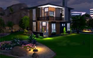 sims haus contemporary desert house sims 4 houses