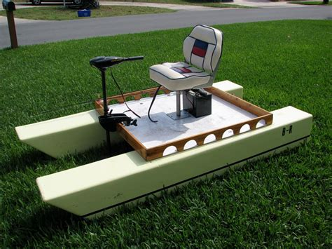mini pontoon boats electric the brothers built two of these electric boats which nest