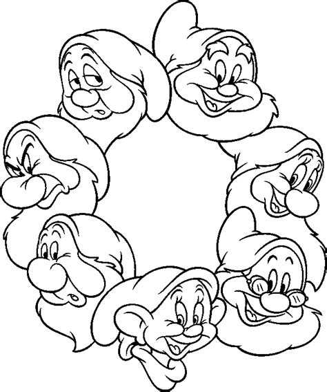 Free Coloring Pages Of Dopey Dwarf Snow White And The Seven Dwarfs Coloring Pages