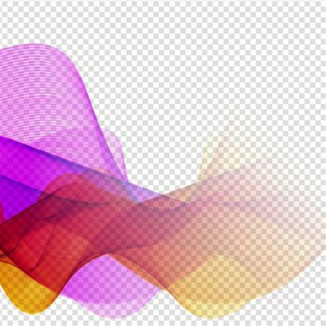 colorful design colorful wave design on transparent background