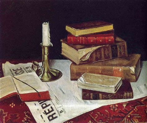 painting book still with books and candle 1890 henri matisse