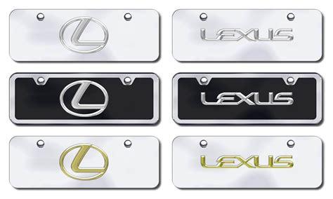 Lexus Vanity Plate by Lexus Half Size License Plates Vanity Logo Tags