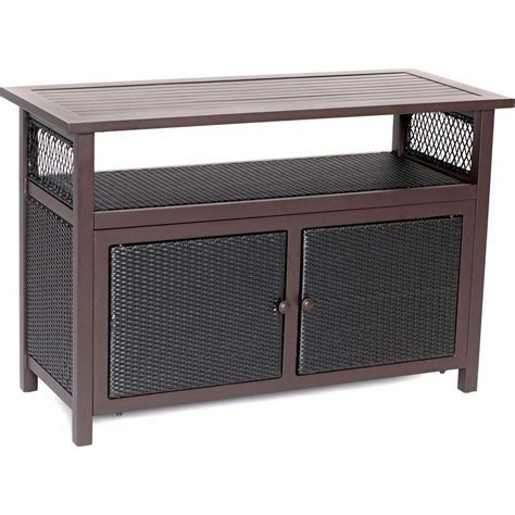 Patio Buffet Server by Hanover Outdoor All Weather Patio Serving Bar With Storage