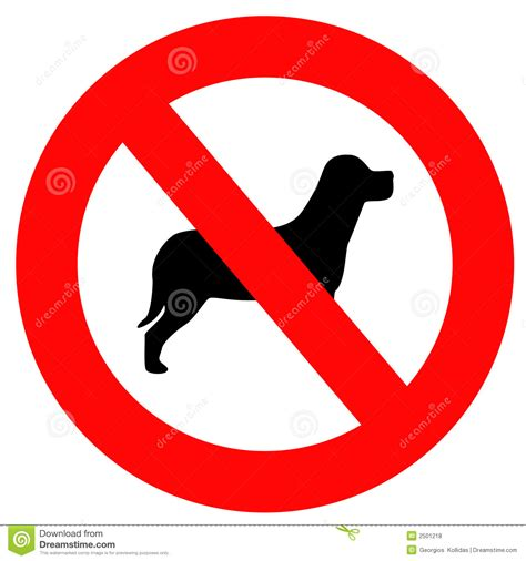 no puppies no dogs sign royalty free stock photos image 2501218