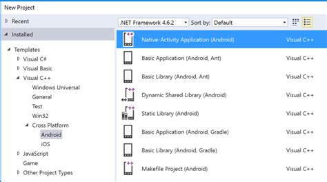 android templates for visual studio 2010 android and ios development with c in visual studio